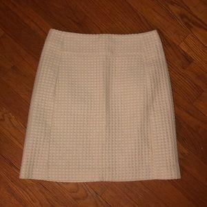 Yellow and ivory polka dot skirt